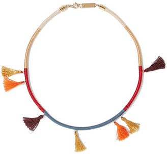 Isabel Marant - Tasseled Cotton Choker - Gold $125 thestylecure.com