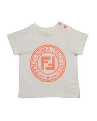 Fendi Girl's Short-Sleeve Logo T-Shirt, Size 12-24 Months