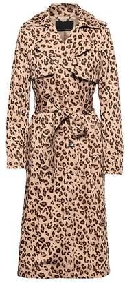 Banana Republic Leopard Print Maxi Trench Coat