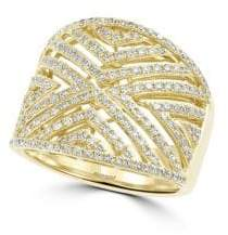 Effy Diamond and 14K Yellow Gold, 0.8 TCW Ring