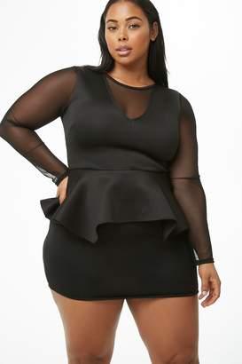 f509770c138 Black Plus Size Peplum Dress - ShopStyle Canada