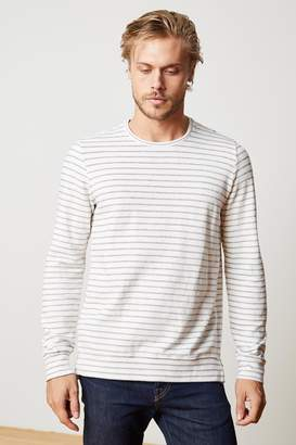 Velvet by Graham & Spencer ARGO STRIPE TERRY CREW NECK SWEATSHIRT