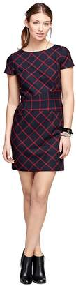 Wool Windowpane Dress $198 thestylecure.com