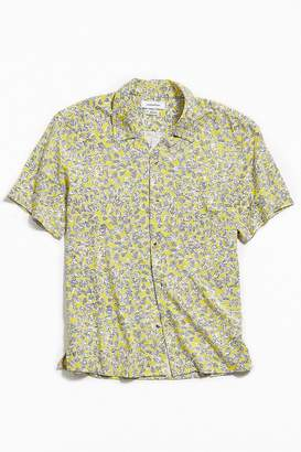 Urban Outfitters Geo Rayon Short Sleeve Button-Down Shirt
