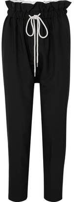Bassike Knitted High-rise Pants - Black