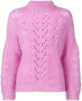 IRO crochet turtleneck sweater