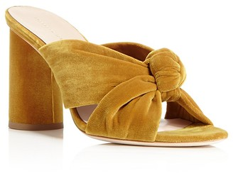 Loeffler Randall Coco Velvet High Heel Slide Sandals $395 thestylecure.com