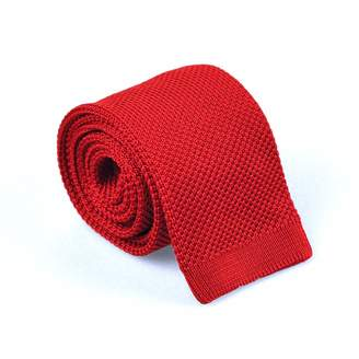 HUCKLE & HARPER - Dark Red Silk Knit Tie