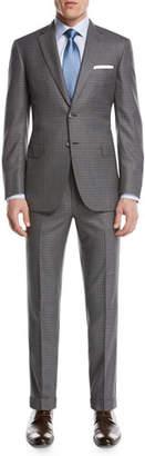 Brioni Super 160s Wool Box-Check Two-Piece Suit, Light Gray $5,750 thestylecure.com