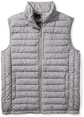 The Plus Project Men's Light Down Vest With Chest Pocket 3X-Large Gray