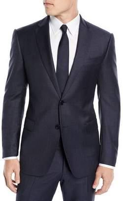 Emporio Armani Men's Box-Pattern Wool Suit