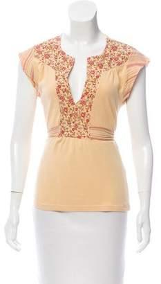 Ella Moss Short Sleeve V-Neck Top