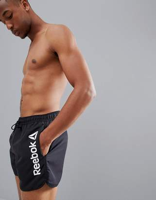 Reebok Swim Retro Shorts In Black CE0622
