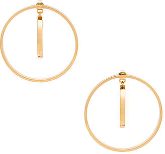 Jenny Bird Rise Hoops in Metallic Gold. $65 thestylecure.com