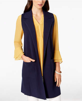 Charter Club Long Notch-Collar Sweater Vest