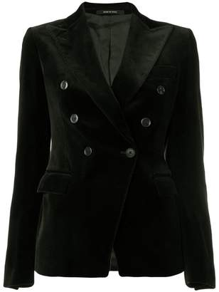 Tagliatore velvet double breasted blazer