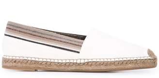 Brunello Cucinelli glitter striped espadrilles
