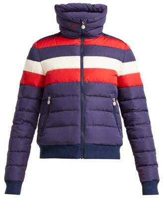 Perfect Moment - Queenie Down And Feather Filled Ski Jacket - Womens - Navy