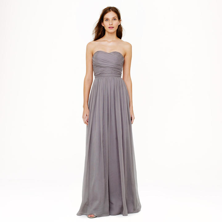 J.Crew Arabelle long dress in silk chiffon