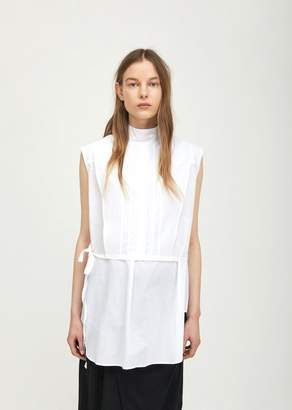 Ann Demeulemeester Sleeveless Cotton Tunic Cotone White