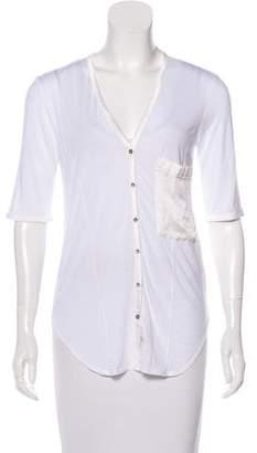Helmut Lang HELMUT Button-Up Short Sleeve Top