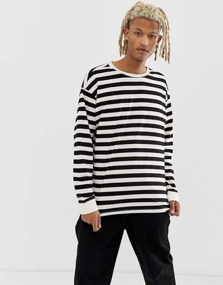 509a5bc108 New Look oversized stripe long sleeve t-shirt in ecru