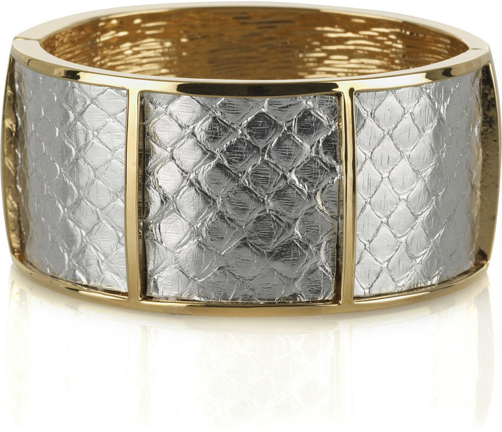 Kara by Kara Ross Gold plated silver python cuff