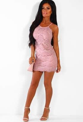 20b4b73c69cb Pink Boutique Break Your Heart Pink Lace Mini Dress
