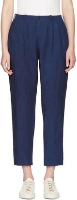 Blue Blue Japan Indigo Linen Trousers $285 thestylecure.com