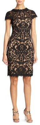 Tadashi Shoji Cord-Embroidered Lace Cocktail Dress $408 thestylecure.com