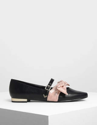 Charles & Keith Knotted Bow Mary Jane Flats