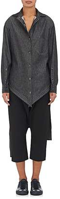 Yohji Yamamoto Regulation Women's Denim Tie-Back Shirt