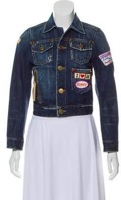 DSQUARED2 Multi-Patched Denim Jacket