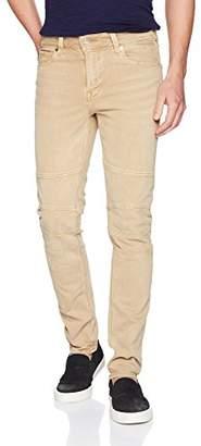 GUESS Men's Slim Tapered Moto Jean