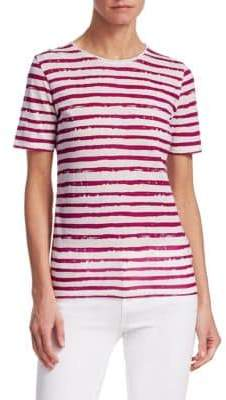 Majestic Filatures Vintage Stripe Rolled Neck Tee
