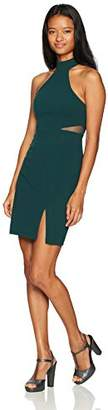 My Michelle Women's Mock Neck Dress with Illusion Cut Outs