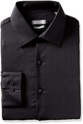 Kenneth Cole Reaction Men's Long Sleeve Slim Fit Wrinkle Free Dress Shirt