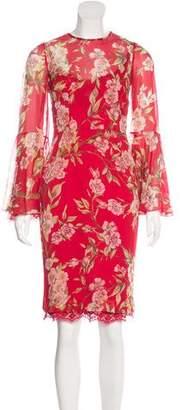 Dolce & Gabbana Semi-Sheer Floral Print Dress