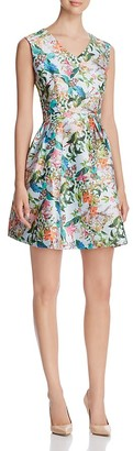 FINITY Floral Print Fit-and-Flare Dress $196 thestylecure.com
