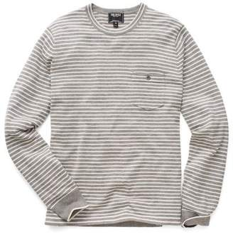 5ff0623df87ee4 Todd Snyder Cashmere T-Shirt Sweater in Grey Stripe