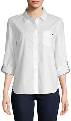 Tommy Hilfiger Roll-Tab Cotton Button-Down Shirt