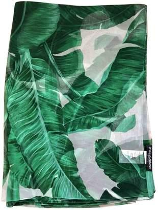 Dolce & Gabbana Green Silk Scarves