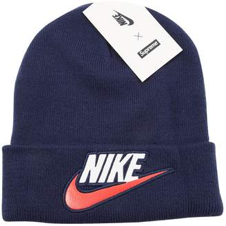 7ce89a095e4 Nike X Supreme Navy Synthetic Hats