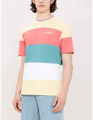 Leon AIME DORE Striped cotton-jersey T-shirt