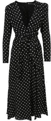 Alessandra Rich Polka Dot Long Dress