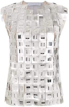 Gloria Coelho metallic top