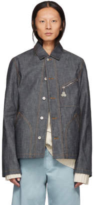 Loewe Blue Denim Botanical Jacket