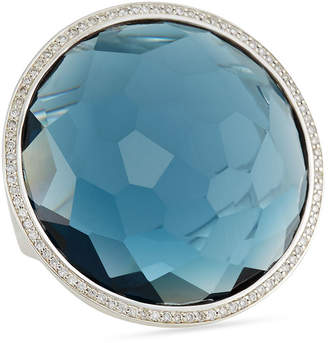 Ippolita Stella Large Lollipop Ring in London Blue Topaz & Diamonds