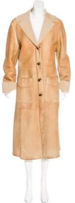 Miu Miu Long Shearling Coat