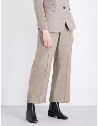 Rag & Bone Ladies Camel Sadie Wide High-Rise Wool Trousers